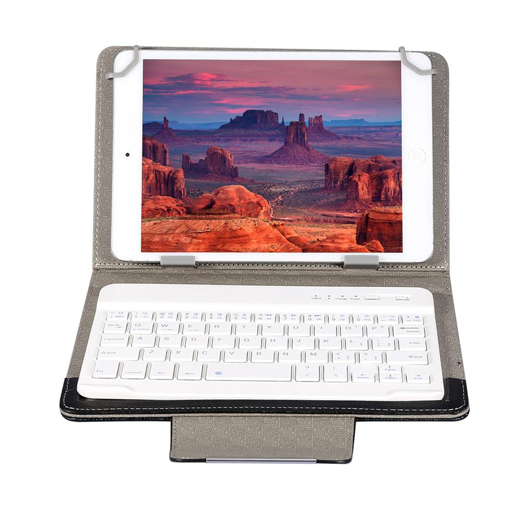Universal 7 8 inch 9 10 inch Bluetooth Keyboard PU Leather Case Stand Cover  OTG pen For Pad Tablet for IOS Android Windows
