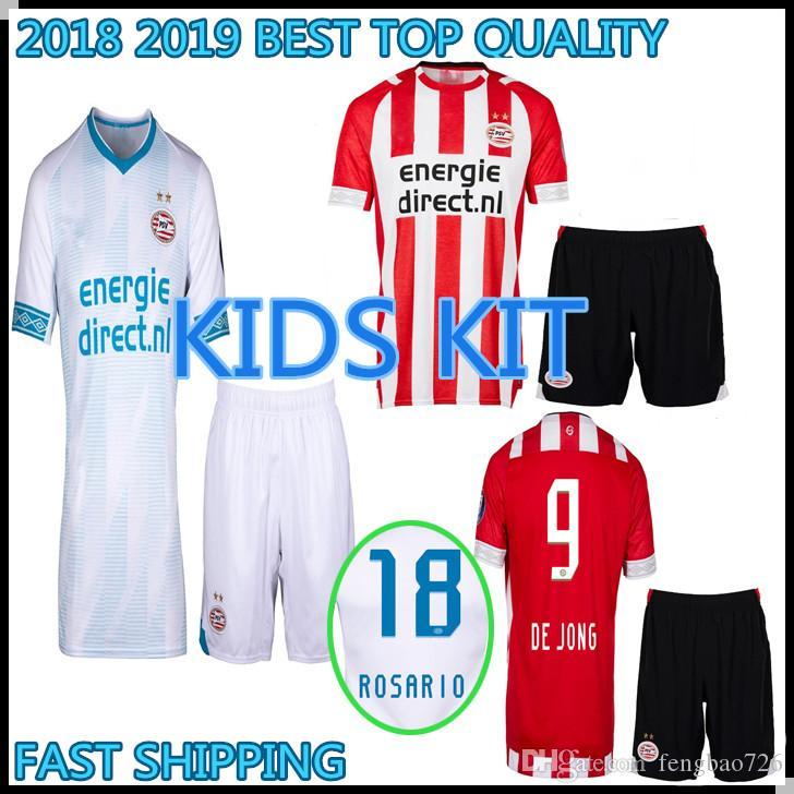 b2f6cdf09d0 Kids Kit 2018 2019 TOP QUALITY PSV Eindhoven Soccer Jersey H. Lozano ...