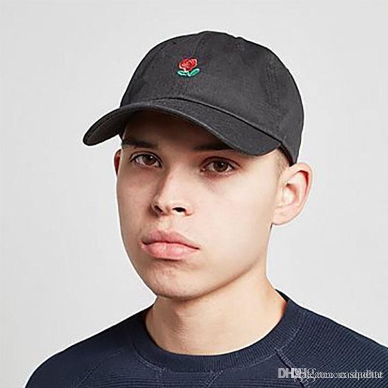 Diseñador Patineta Hop Hombres Visera Bordado Sombrero Negra