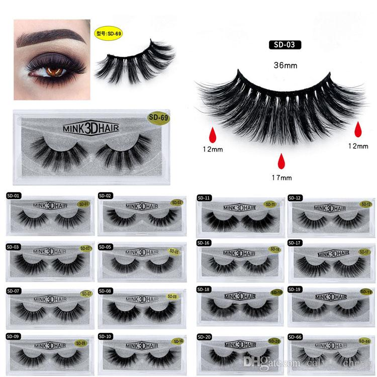 T 3D mink hair false eyelashes Soft and long natural thick false eyelashes Three-dimensional multi-layer thick false eyelashes Beauty tools