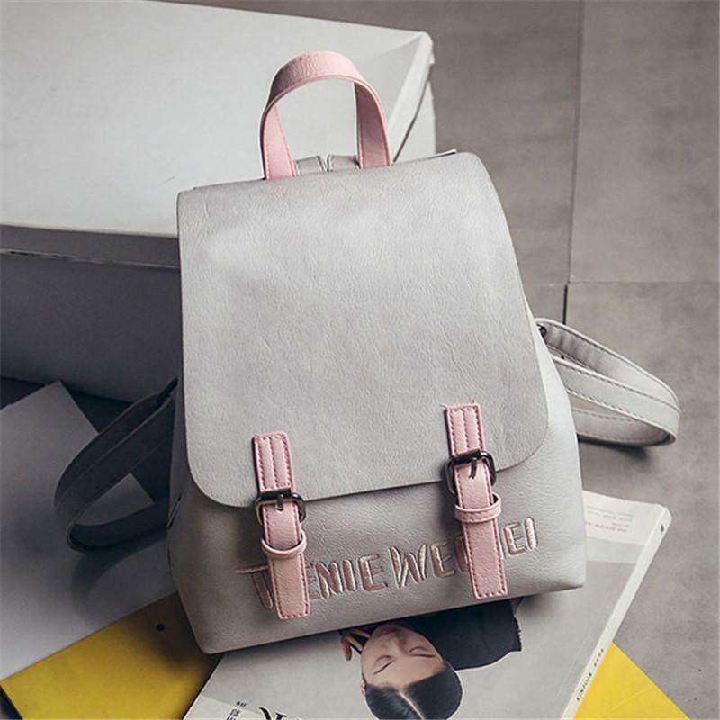 4d502fae50 Brand 2019 New Preppy Style Rucksack Hotsale Women Joker Shopping Shoulder  Lady Bookbag Travel Bag Student School Backpacks 975 Backpacking Backpacks  ...