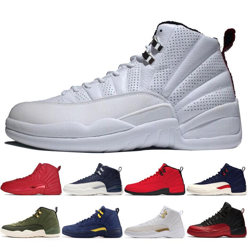 415e4eac5fb809 12 12s Gym Red Bulls Mens Basketball Shoes Michigan International ...