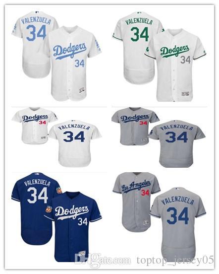 2019 2018 Los Angeles Dodgers Jerseys  34 Valenzuela Jerseys  Men WOMEN YOUTH Men S Baseball Jersey Majestic Stitched Professional  Sportswear From ... 92d2f808718