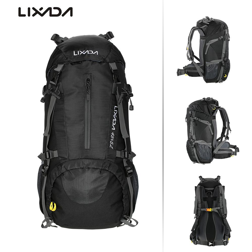 672b8ffb0bcf Lixada 50L Waterproof Outdoor Sport Hiking Camping Travel Backpack Climbing  Backpacking Trekking Bag Knapsack With Rain Cover Leather Backpack Laptop  ...