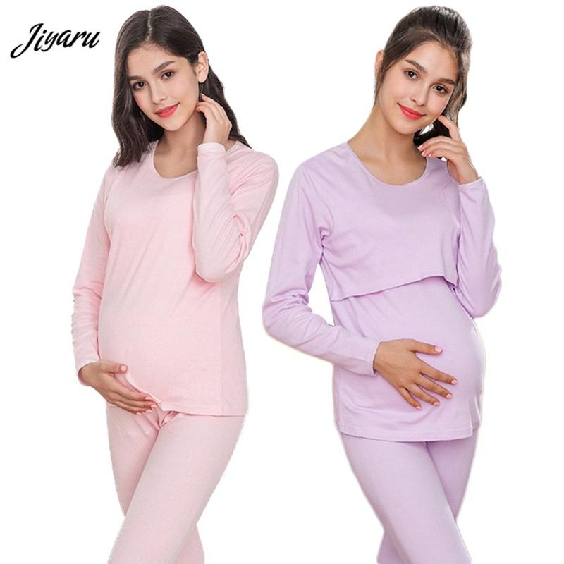 645a933b44 2018 Hot Selling Pregnant Winter Thick Loungewear Maternity Long Sleeve Pregnancy  Sleepwear Maternity Nursing Pajamas Set UK 2019 From Breenca