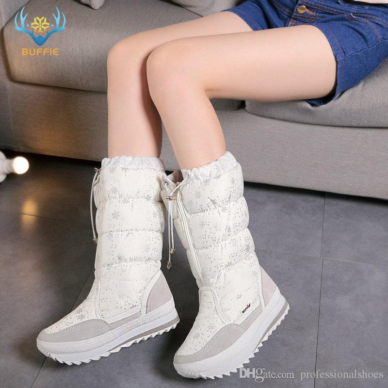 8f46c3e22 2019 Winter Boots High Women Snow Boots Plush Warm Shoes Plus Size ...