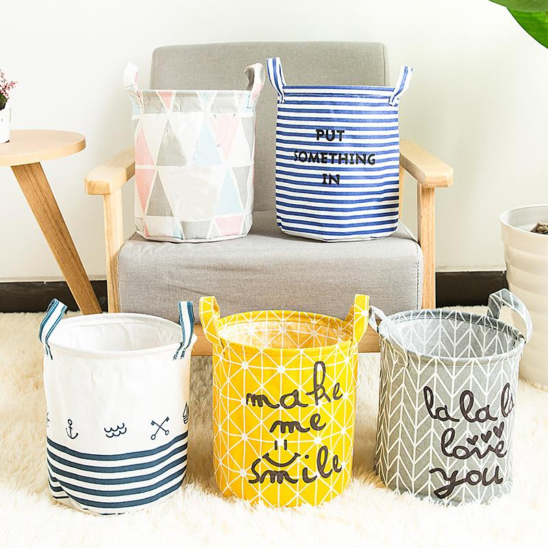 Storage Baskets Folding Laundry Basket Yellow Arrow Couple Linen Washing Clothes Barrel Bags With Handles Kids Toys Hamper Bag