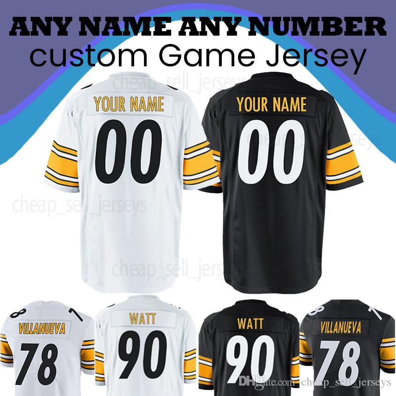 classic fit 927dd 94331 Customized Pittsburgh jersey Steeler 19 Juju Smith-Schuster 30 James Conner  84 Antonio Brown 7 Roethlisberger American football jerseys