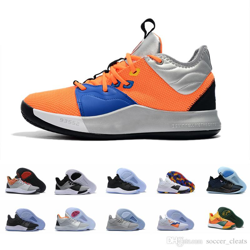 huge discount 93042 7b685 2019 New Paul George PG 3 x EP Palmdale PlayStation Mens Basketball Shoes  for Cheap USA Designer PG3 3s Sports Sneakers Size 40-46
