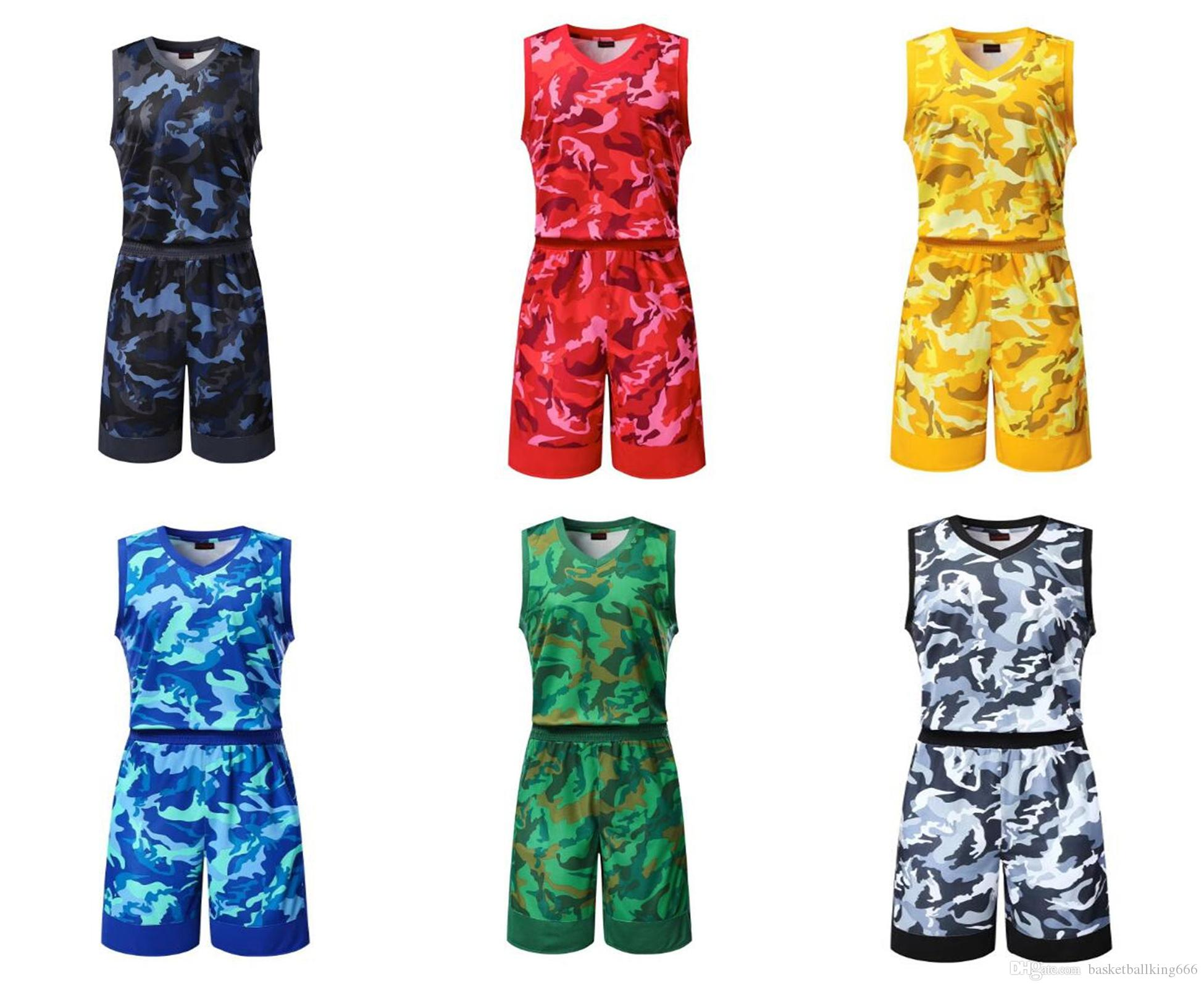 4942115a668d 2019 Hot Selling New Camouflage Basketball Uniforms