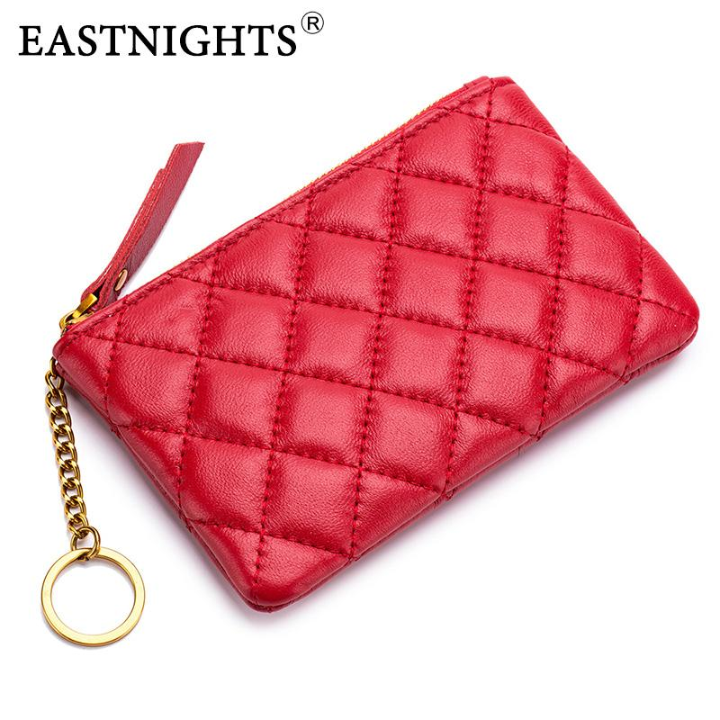 20aef145c56e Sheepskin Genuine Leather Coin Purse Women Fashion Zipper Mini Rubber Change  Money Bag Female Holder With Key Ring Ladies Wallets Wholesale Purses From  ...