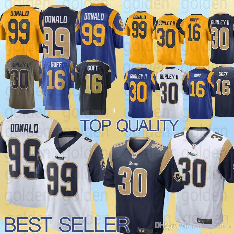 2019 Los Angeles Rams Jersey 30Todd Gurley 16 Jared Goff 99 Aaron Donald 5 Nick  Foles Game Jerseys Top Quality From Golden sports 011e02dc2