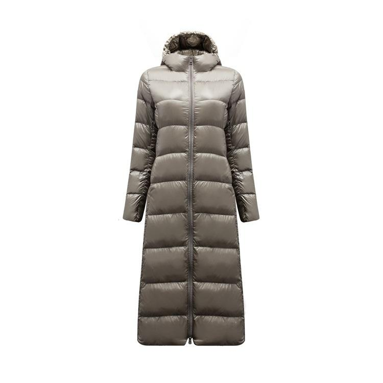 6df3deea8 Japan Primary High-end Winter Lengthen Paragraph Exceed Light Over The Knee  Down Jackets Overcoat Day Single Fem C18122101