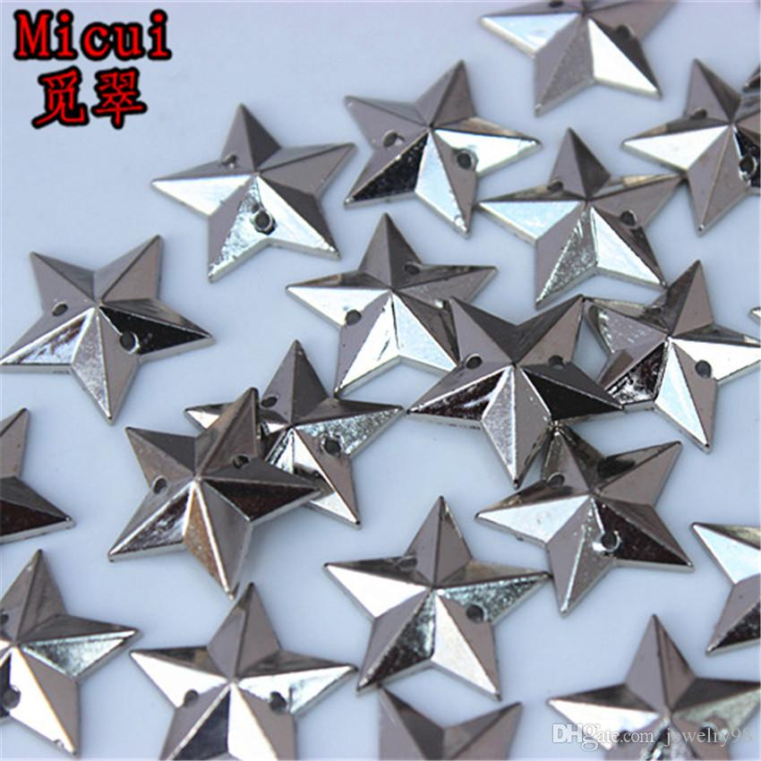 Micui 16mm Five Pointed Star Acrylic Rhinestones Sew On Crystals ... 31ffd4e96fa0