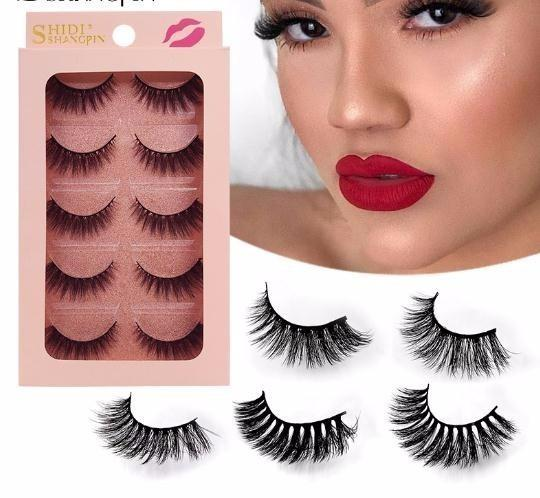 3d Lashes Hand Made Makeup False Eyelash Natural Long False Eyelashes 1 Box Makeup Full Strip G900-904