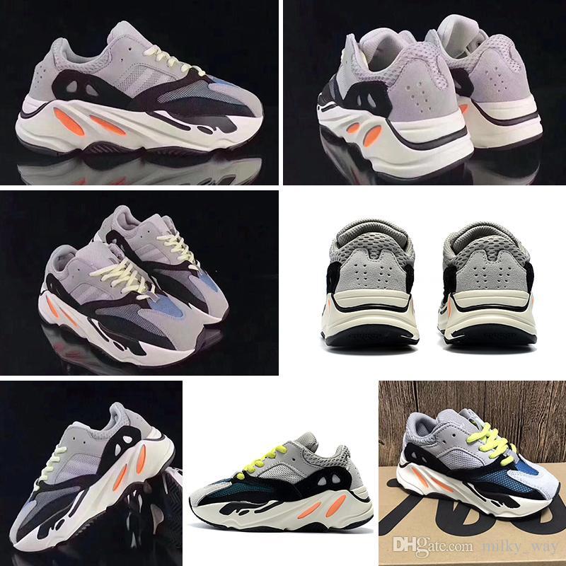 adidas Yeezy Wave Runner 700 Zapatos para niños Kanye West Wave Runner 700 Zapatos para correr para niños BOOST 700 Zapatillas deportivas Casual con