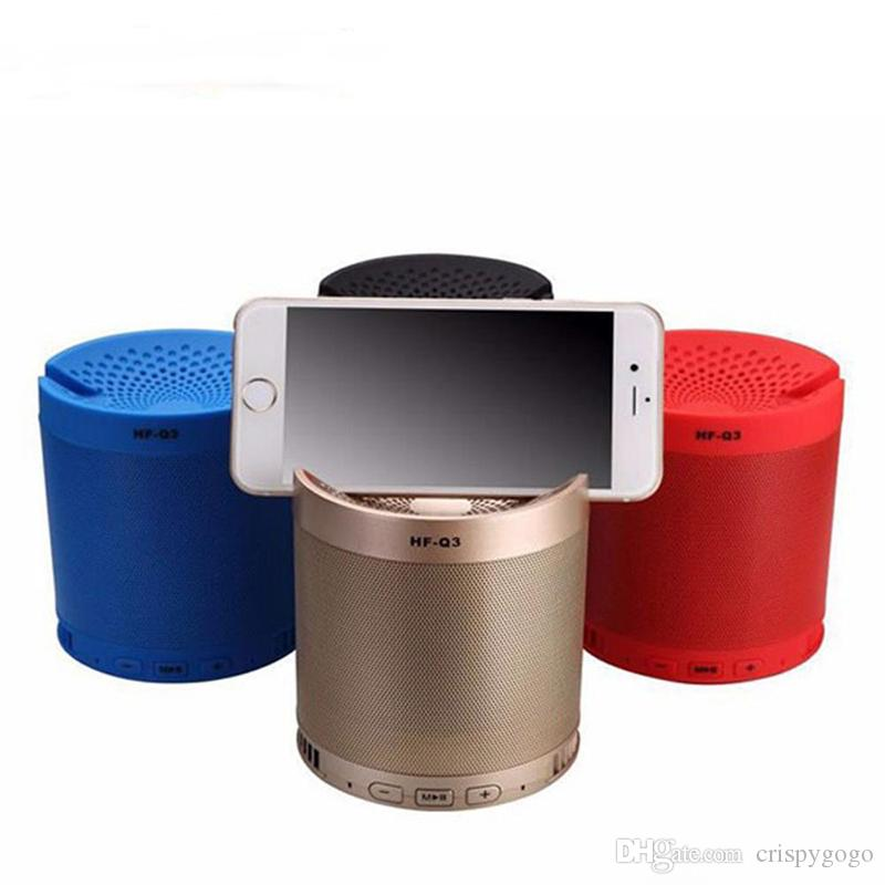 Bluetooth Speaker Grill With Phone Dock 6W 1200mah Powerful Speaker grill Metal Portable 3D Stereo grill Speaker HFQ3
