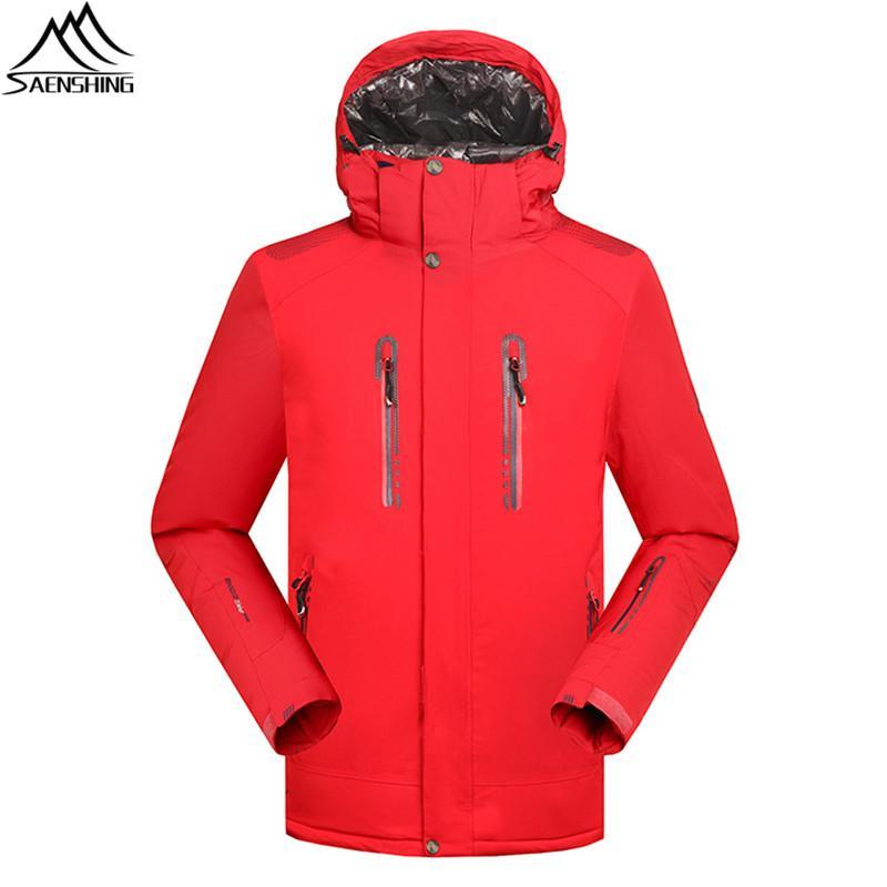 SAENSHING Solid Ski Jacket Men Waterproof 10000 Super Warm Winter ... 0b1265539