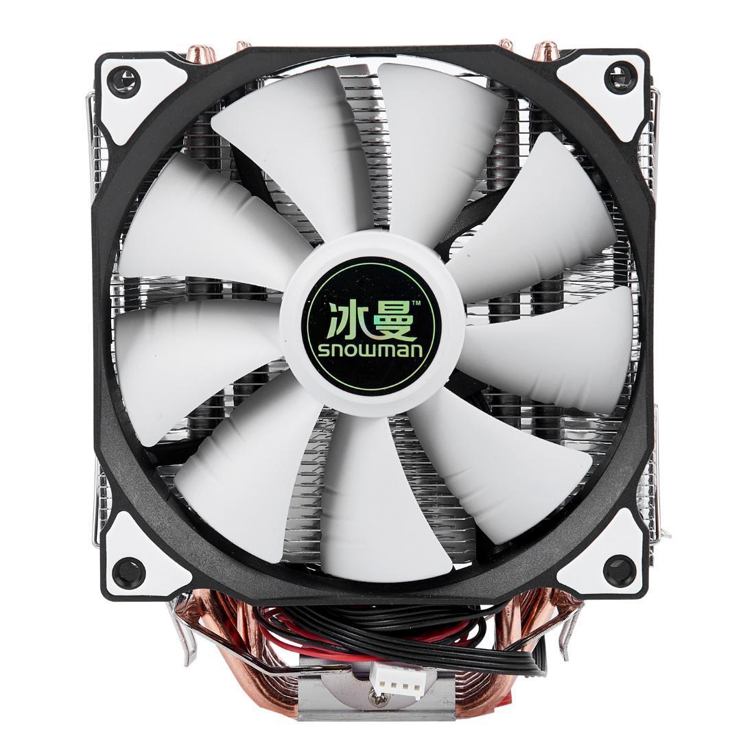 9691efd88 SNOWMAN 4PIN CPU Cooler 6 Heatpipe Double Fans Cooling 12cm Fan LGA775 1151  115x 1366 Support Intel AMD UK 2019 From Lowkeyy