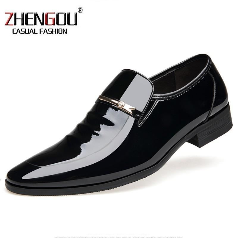 ZHENGOU Shiny Leather Mens Dress Oxford Designer Shoes For Men Loafers  Formal Business Shoes 2119 Office Drop Shipping Hand Made Green Shoes Boots  Shoes ... aa5ea656de4