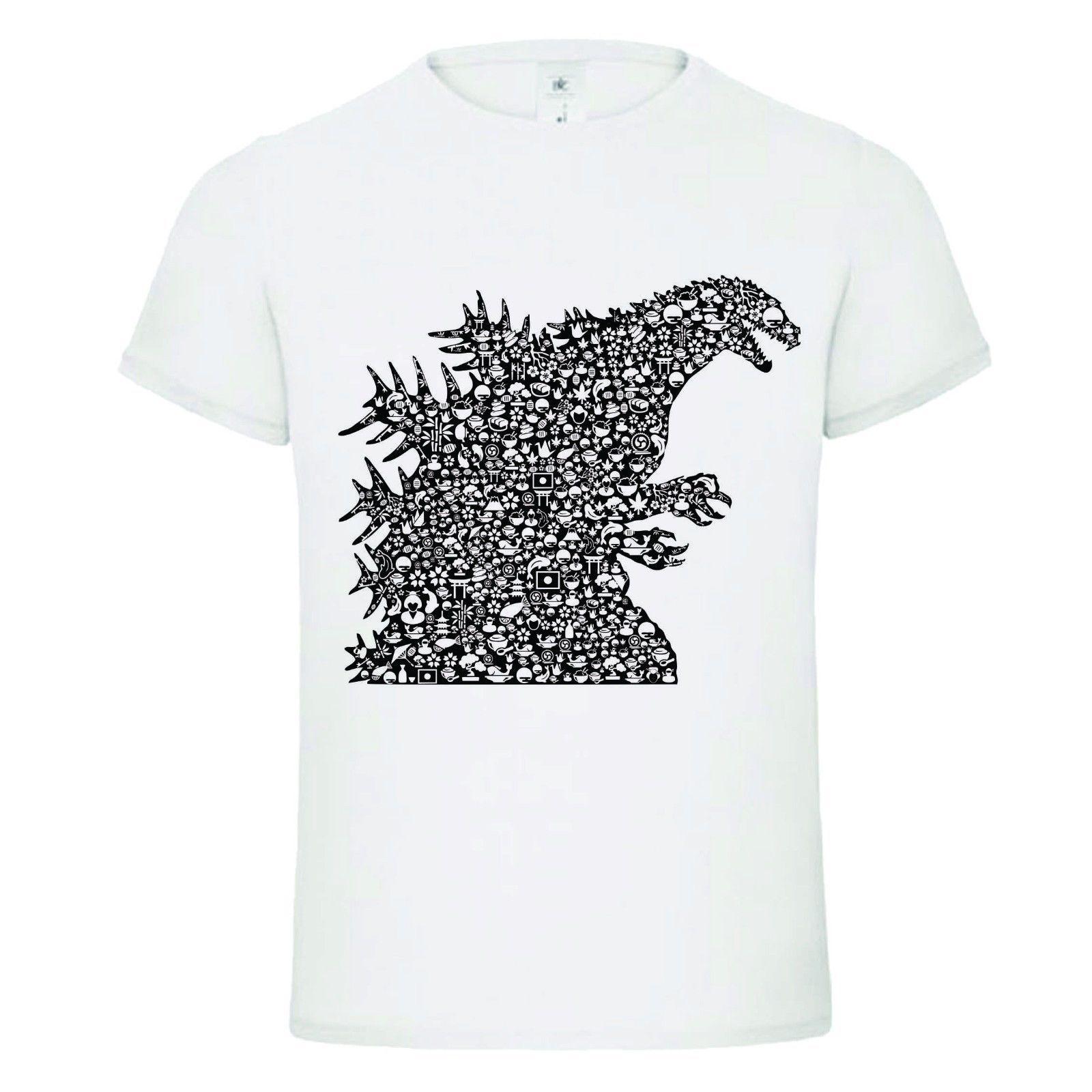 6347d2dea GODZILLA SHAPES MASHUP Funny Mens Dtg T Shirt Tee FULL COLOR T SHIRT Gift  Print T Shirt,Hip Hop Tee Shirt,NEW ARRIVAL Tees Awesome Tee Shirt Funny T  Shirts ...
