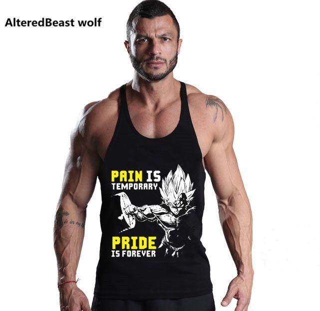 3e4d0e82f25cc1 Gyms Kleidung GOKU print Bodybuilding Tank Top Herren Fitness Singlet  Ärmelloses Shirt Baumwolle Muscle Unterhemd Training Tanktops # 136517