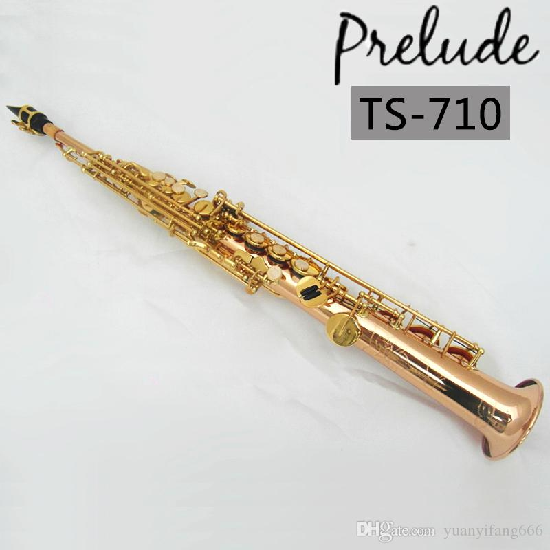 USA conn selmer Soprano Saxophone TS-710 phosphor bronze copper Sax  Straight pipe Professional Musical instrument With mouthpiece &box