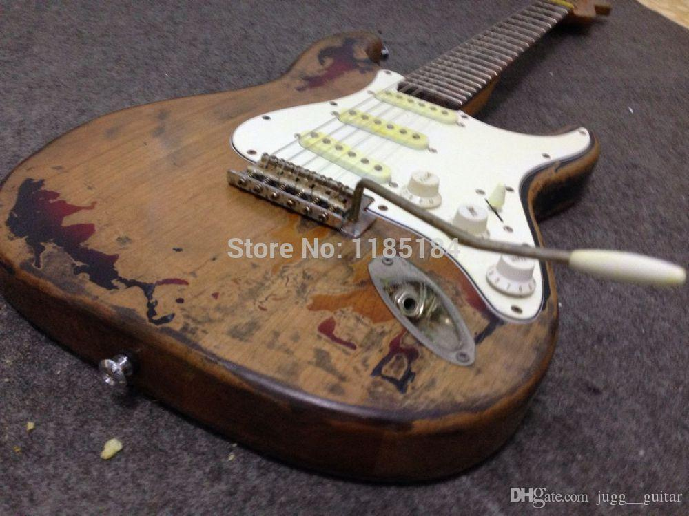 Custom Caster New Style high quality Handmade RELIC Distressed ST Electric Guitar Faded Effect