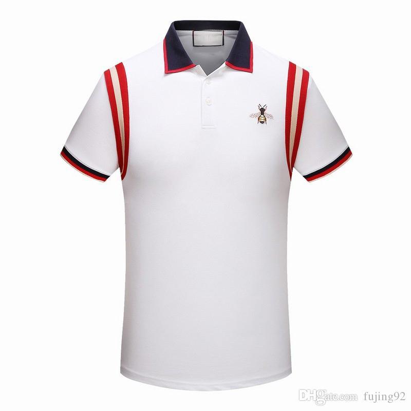 Compre 2019 Marca Nueva Moda Clásico Diseñador De Lujo Hombres Polo ... fcf5ec0f5f034