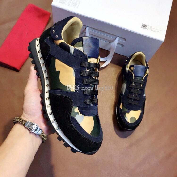 df1db72d01e Compre Clássico Sapatos De Luxo Sapatos De Grife De Moda Homem Mulher De  Alta Qualidade Estilo Punk Sapatos Casuais Tamanho 35 45 Modelo ST042911 De  Hqy810