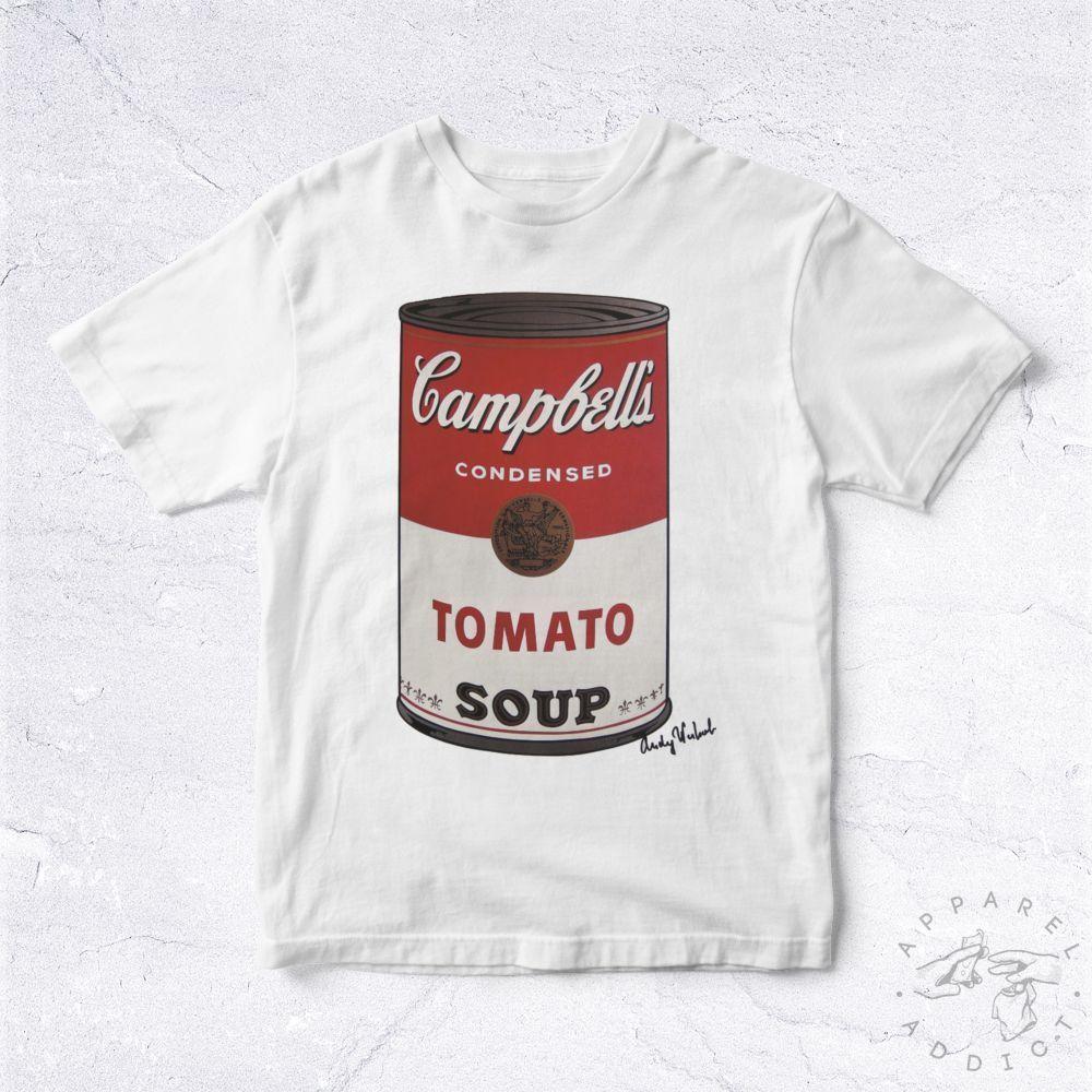 NEW Tee Shirt Campbells Tomato BIO Artist Art Andy Warhol Modern Hype  Hipsterharajuku Summer 2018 tshirt