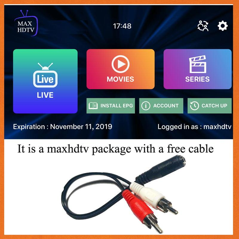 maxhdtv video cable include ARABIC Turkey Netherlands USA Germany French Africa video working on Smart tv android device mobile pc