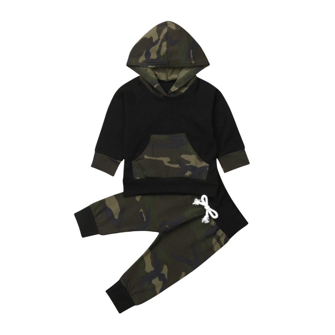 da6e1cf15 Infant Newborn Baby Girl Boy Camouflage Clothes Pocket Shirt Top ...