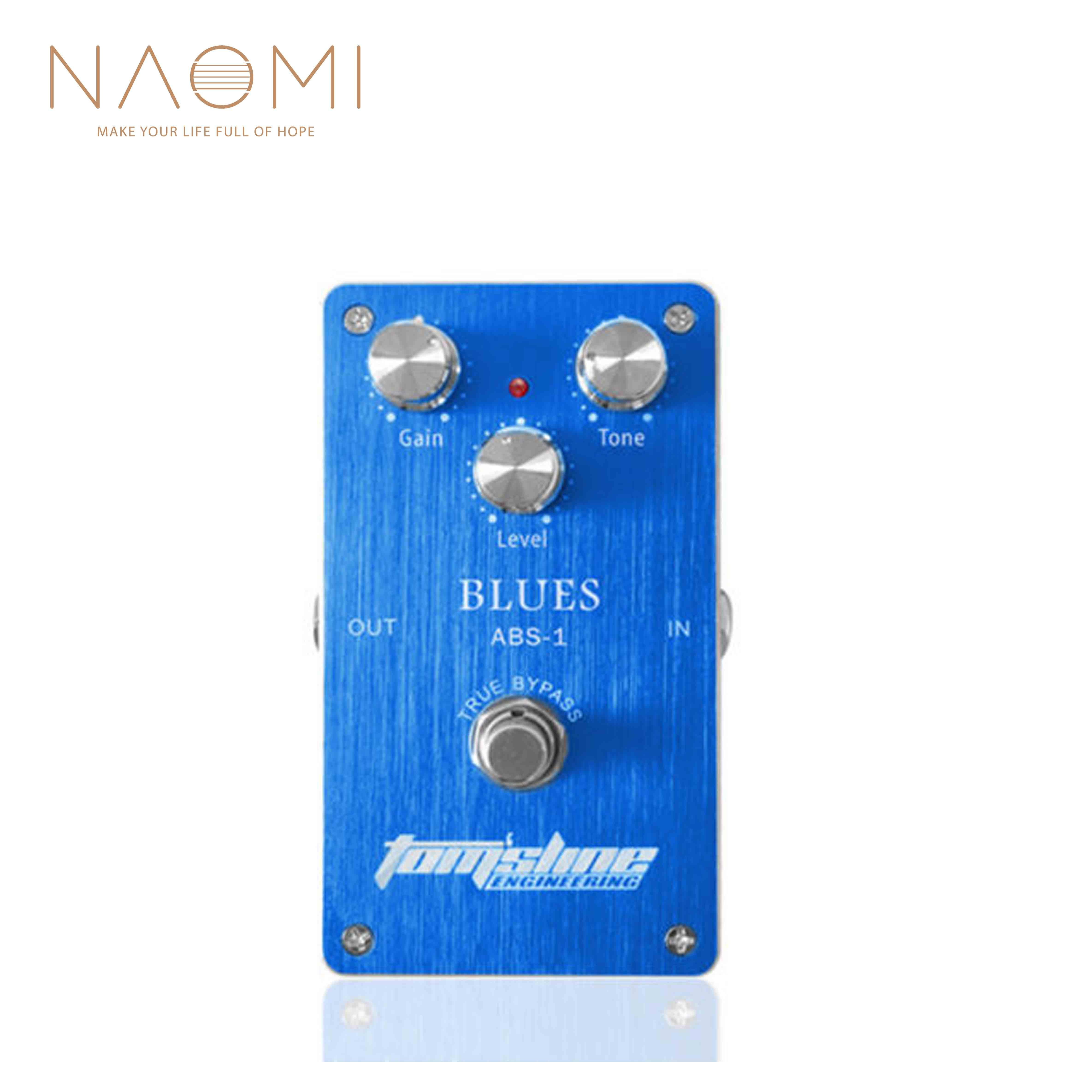 NAOMI Effect Pedal Aroma ABS-1 Blues Distortion Guitar Pedal Aluminum Alloy True Bypass Guitar Parts Accessories New