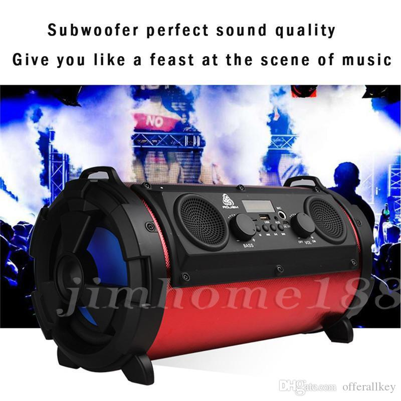 16015W Big Power HiFi Wireless Bluetooth Speaker Outdoor Multifunction Subwoofer Cool LED Light Stereo Bass Music Player