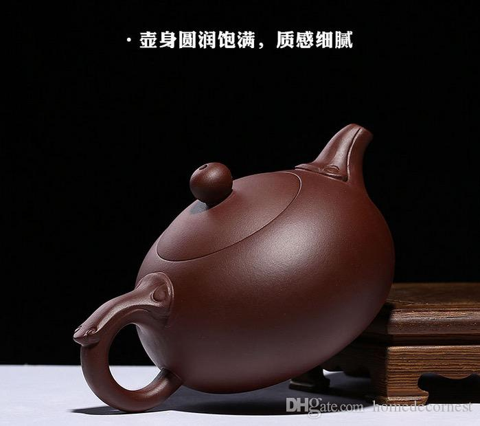 Authentic Yixing Teapot Gift Box 240ml Zisha Tea Pot Raw ore Teapot Purple Clay Teapot Handmade Kung Fu Teaset Free shipping Sanzuyuru