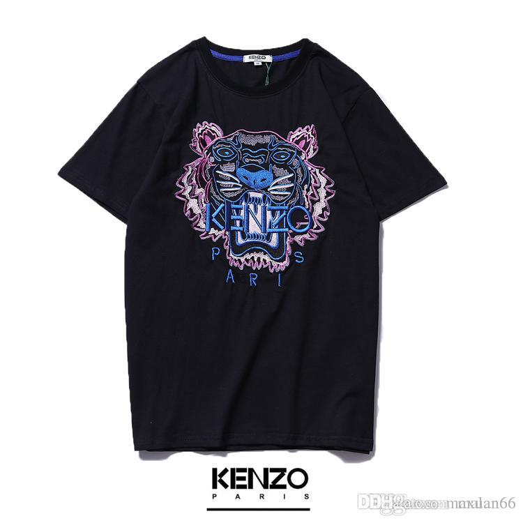 6940312abd18 2019 Summer Brand T-shirt Men And Women with the Same Tiger Head ...