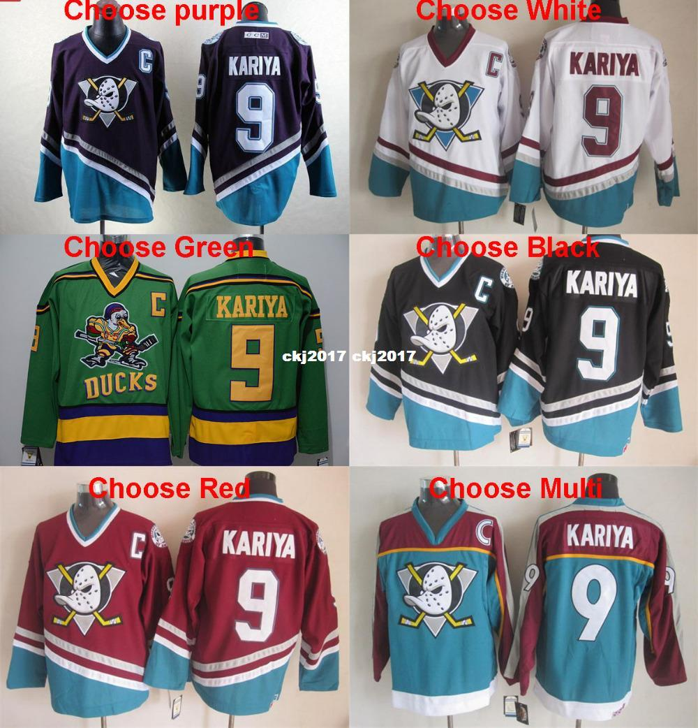 096eea29 2019 Best Quality Retro Anaheim Mighty Ducks 9 Paul Kariya Jersey Purple  White Black Green Teal Red Vintage Hockey Jersey From Ckj2017, $31.96 |  DHgate.Com
