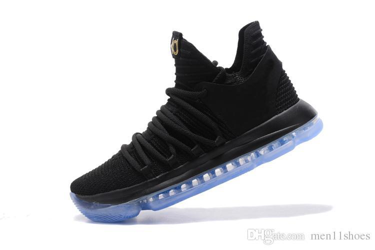 321f2b72590d 2018 Luminous White Casual Shoes Kevin Durant 10 Black White BHM University  Red City Series Top Quality KD 10 Men Casual Shoes 7 12 Tennis Shoes Ladies  ...