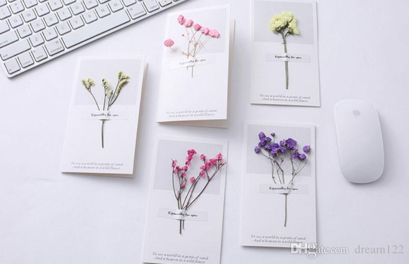 Korea Creative Star Dry Flower Greeting Card Art Blank Ard High Grade Diy Birthday CARDS Handmade Mail A Gift Send Through Email