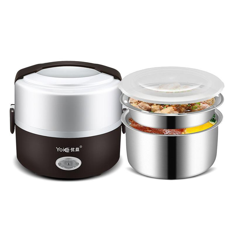 Round school lunch table Outdoor 2019 Electric Lunch Boxes Heated Food Containers Double Layer Portable Round 220v Food Warmer Healthy School Lunch Containers For Car C18112301 From The New York Times 2019 Electric Lunch Boxes Heated Food Containers Double Layer