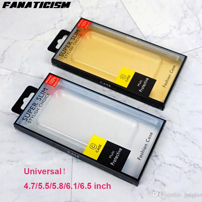 Fanaticism PVC Blister Retail Packaging Box For iphone XR XS Max 6s 7 8 Samsung S10 S9 S8 Plus Note9 Cover Retail Package