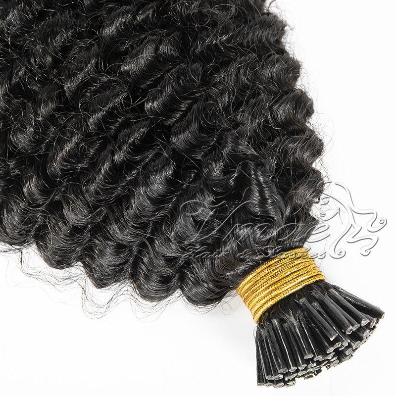 VMAE кутикулы выравнивания Индийского Raw Virgin Pre скрепленной человеческие волосы кератин ручка U кончик Afro Kinky завитые I Подсказка Extensions