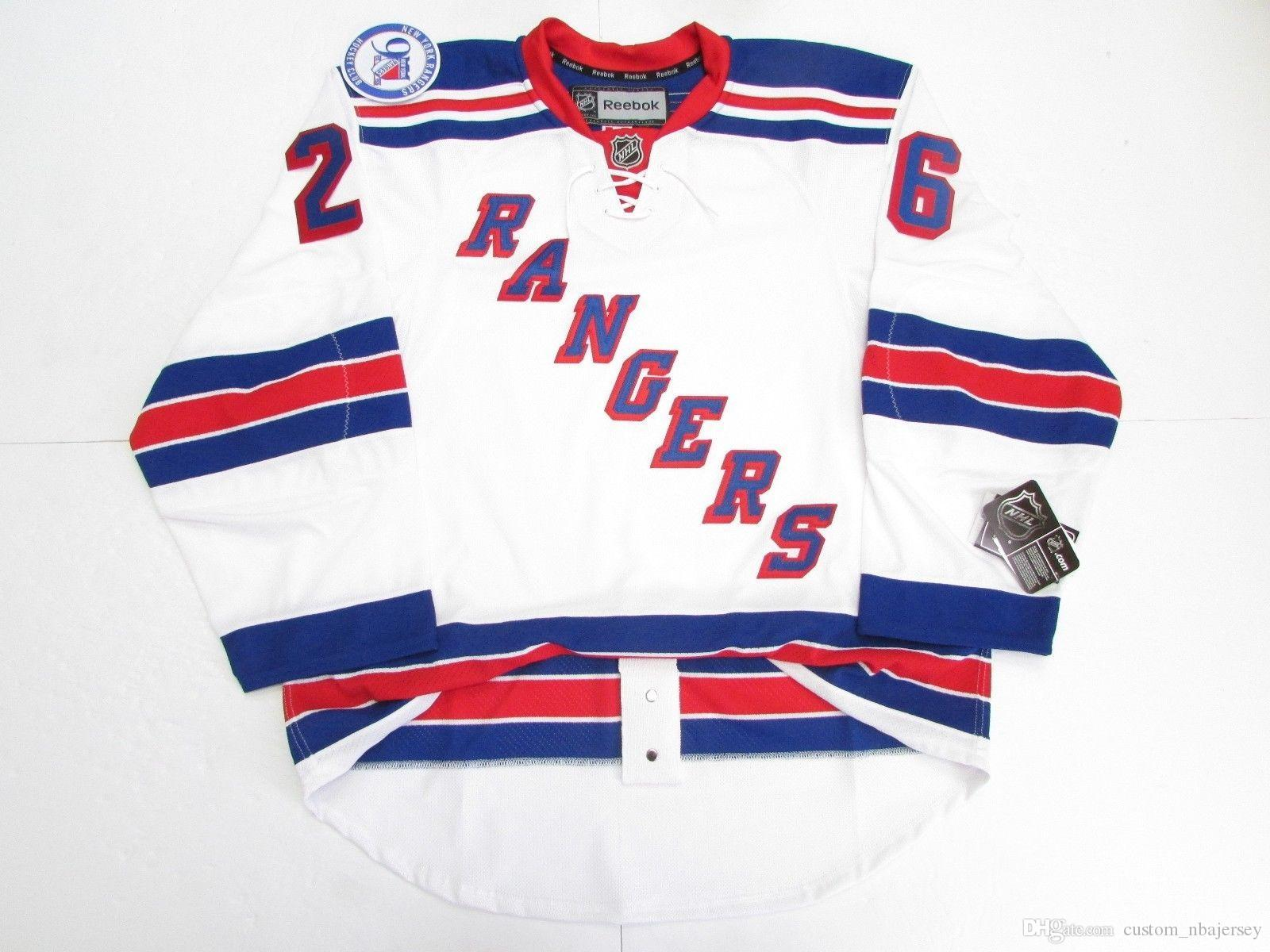 a5a42f073 ... 2019 cheap custom jimmy vesey new york rangers away 90th anniversary jersey  stitch add any number