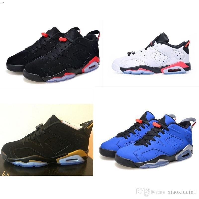de8b196cae29 2019 Mens AJ6 Low Basketball Shoes Retro Jumpman 6 Air Flight AJ 6S ...