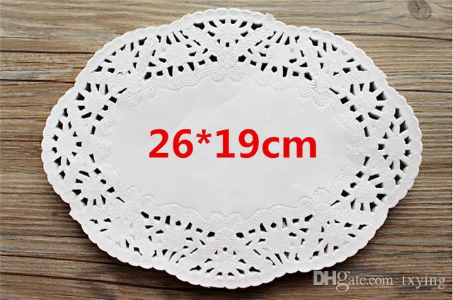 Lace Round or Oval White Paper Cake Placemat Vintage Coasters Wedding Party Christmas Table Decoration Baking Tools