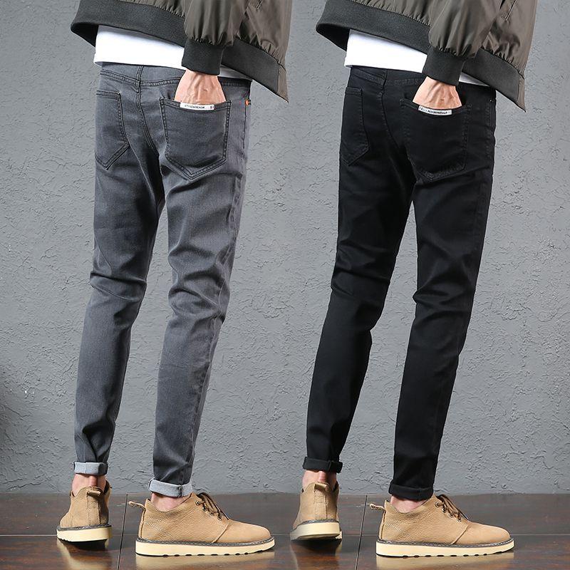 49a52f1e86 Compre Pantalones De Ocio De Zapato Slim Para Hombre De Chao Brand Autumn  And Winter De New Nine Cent Jeans Para Hombre A  57.11 Del Modleline