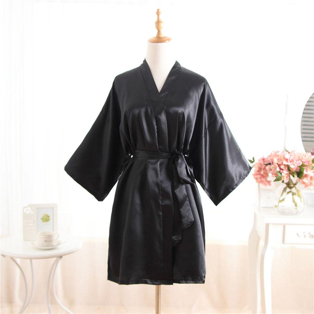 2517a171c Plus Size Fashion Ladies Summer Mini Kimono Short Robe Bath Gown ...