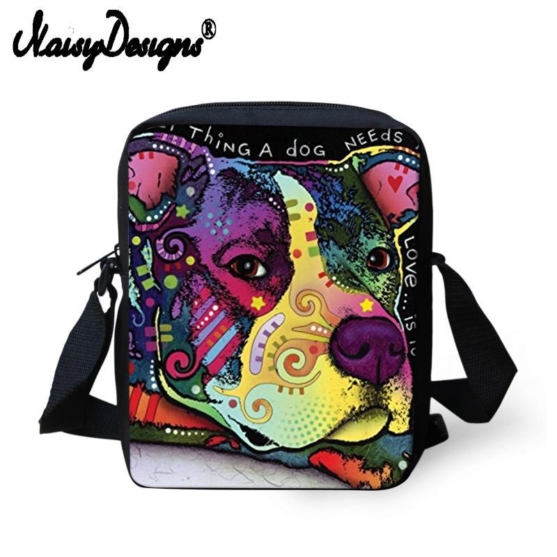 1581d0890f0a Custom Ladies 3D Pug Bulldog Animlas Print Women Messenger Bags Shoulder  Handbags Cute Husky Children Crossbody Bag For Girl Men Handbags For Women  Brahmin ...