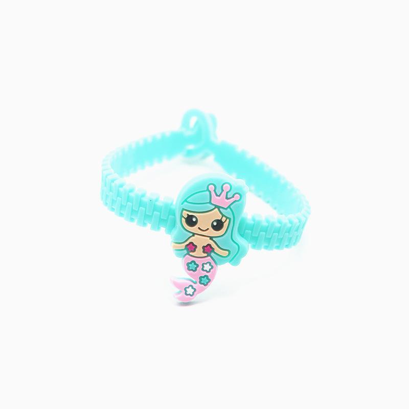 IYOE Flamingo Meerjungfrau Einhorn Armband Armreifen Für Kinder Cartoon Schöne Tier Charme Armbänder Wrap PVC Kinder Weihnachtsgeschenke